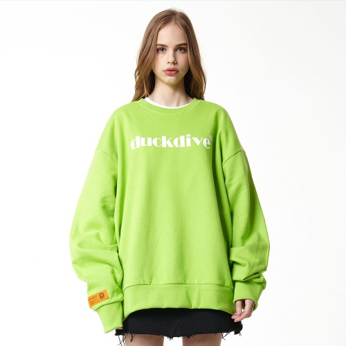 [DUCK DIVE] EMOTION LOGO_CREWNECK_YELLOW GREEN