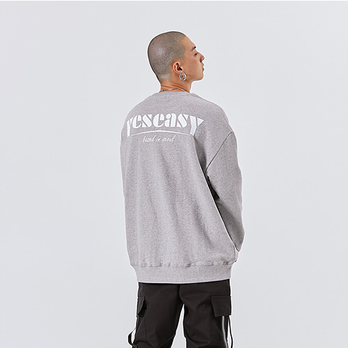 [YESEASY] FUTURA SWEATSHIRT - GRAY