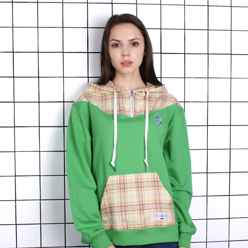 [TOi] TOKYO CHECK POINT HOODIE GREEN