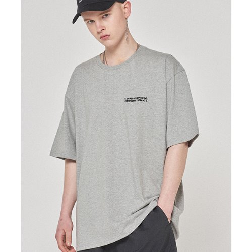 Embroidery Front Tee - GREY