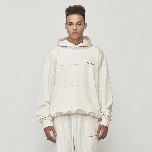 [D.PRIQUE] Oversized Logo Hoodie Ivory