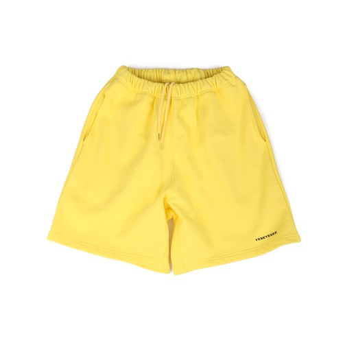 [YESEYESEE] Y.E.S Sweat Shorts Yellow