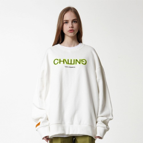 [DUCK DIVE] CHILLING_CREWNECK_OFF WHITE