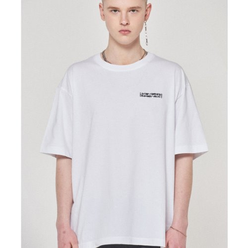 Embroidery Front Tee - WHITE