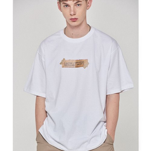 Box Logo Tee - WHITE