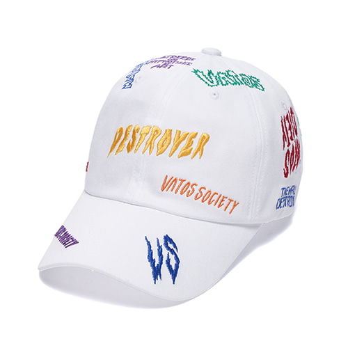 [STIGMA]DESTROYER BASEBALL CAP - WHITE