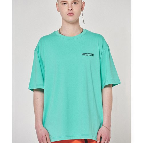 Embroidery Front Tee - MINT