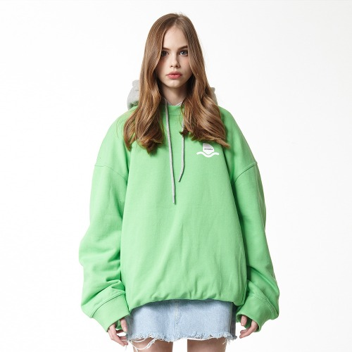 [DUCK DIVE] SURFBOARD_CREWNECK_YELLOW GREEN