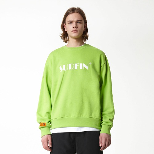 [DUCK DIVE] SURFING_CREWNECK_YELLOW GREEN