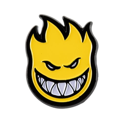 [Spitfire] BIGHEAD FILL Lapel Pin - BLACK/YELLOW 67010075B00