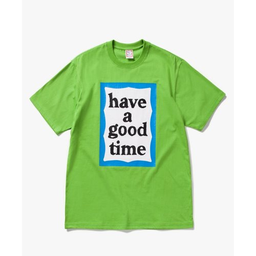 [Have a good time] Big Blue Frame S/S Tee - LEAF GREEN