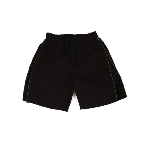 [YESEYESEE] Zip Shorts Black