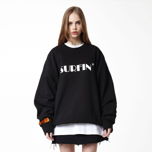 [DUCK DIVE] SURFING_CREWNECK_BLACK