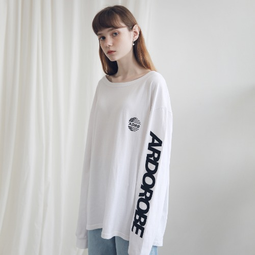 [ARDOROBE] ARM LINE LOGO LONG SLEEVE ALS191001-WT