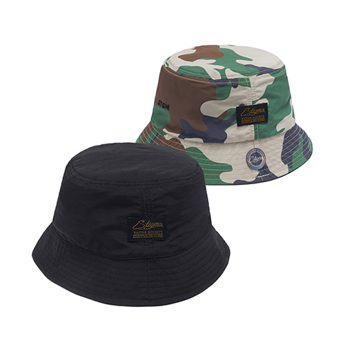 [STIGMA]STGM REVERSIBLE BUCKET CAP - BLACK