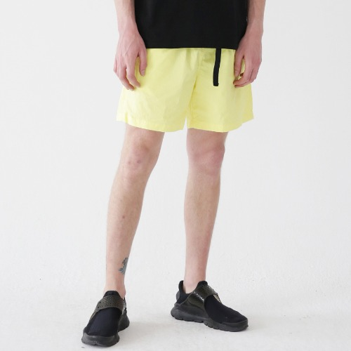 [ARDOROBE] WASHING BELT SHORTS ASP182001-YL