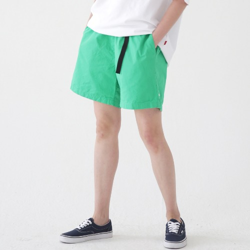 [ARDOROBE] WASHING BELT SHORTS ASP182001-GN