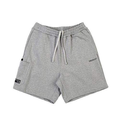 [RENDEZVOUZ] SIDE POCKET SWEAT SHORT GREY