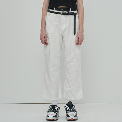 [OY] CARGO CUTTING JEANS - WH