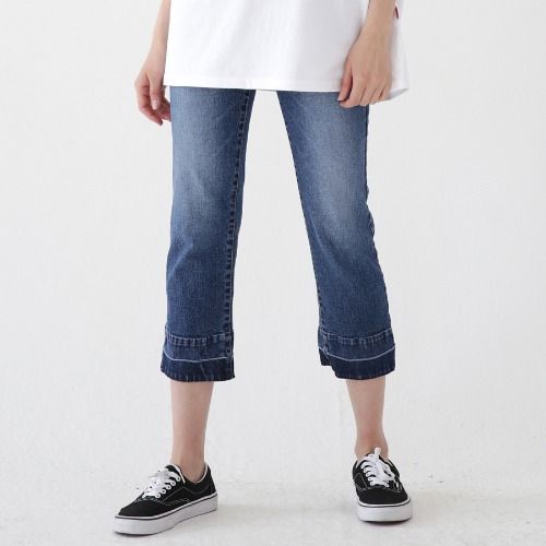 [ARDOROBE] TWO TONE CUTTING DENIM JEANS ALP182002-BL