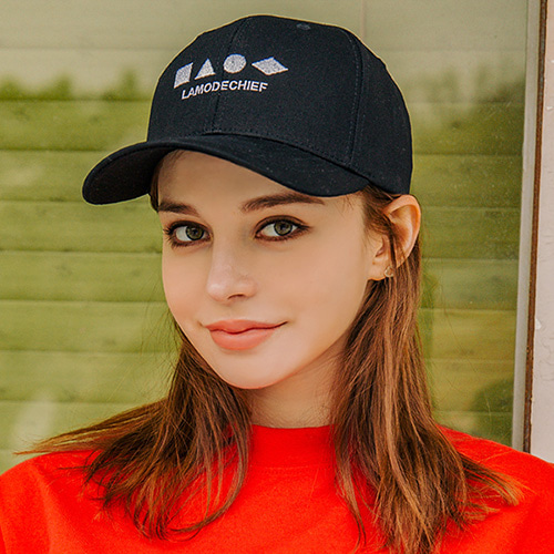 [LAMODECHIEF] LAMC SHAPE BALL CAP (BLACK)