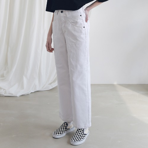 [ARDOROBE] WIDE CHINO PANTS ALP191004-WT