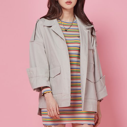 FR FLAP POCKET JACKET - BEIGE