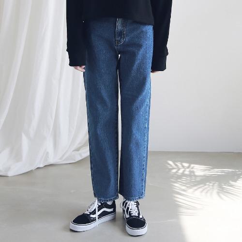 [ARDOROBE] WASHING STRAIGHT DENIM PANTS ALP191001-BL