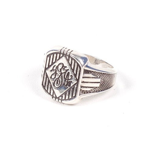 [AGINGCCC] 425# CLASSIC INITIAL RING - SILVER
