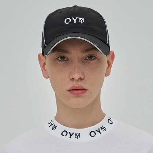 [OY] REFLECTIVE PIPING CAP - BK