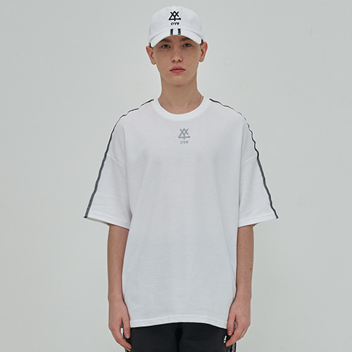 [OY] REFLECTIVE LINE T - WH