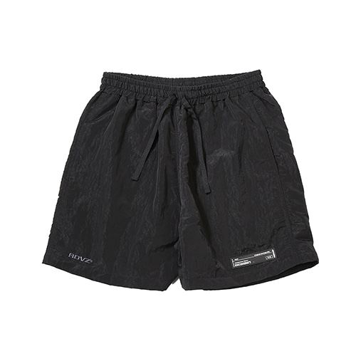 [RENDEZVOUZ] METALLIC SURF SHORT BLACK