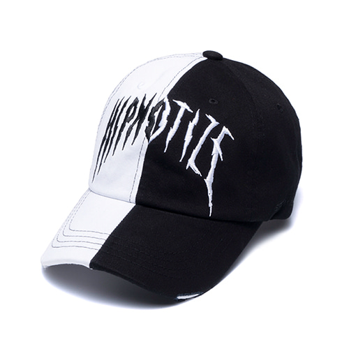 [STIGMA]HALF WASHED BASEBALL CAP - WHITE
