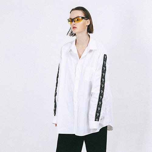 [outofcircle] tape shirts (white)