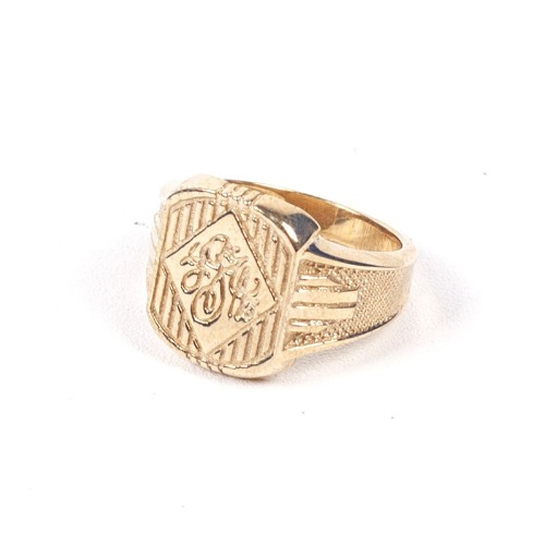 [AGINGCCC] 424# CLASSIC INITIAL RING - BRASS