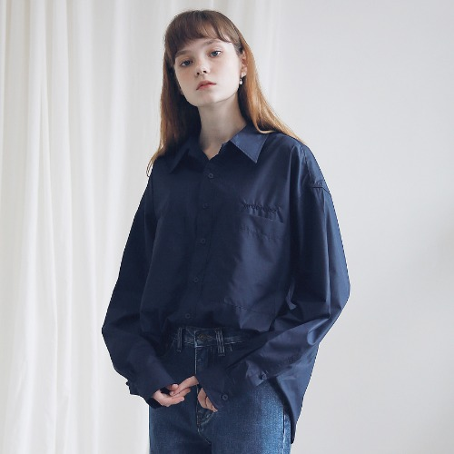 [ARDOROBE] TWO POCKET BASIC SHIRTS AST191001-NV