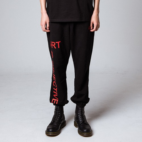 [OBJECT] ART IS OBJECTIVE SWEATPANTS - BLACK