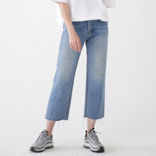 [ARDOROBE] CUTTING DENIM JEANS ALP182001-BL