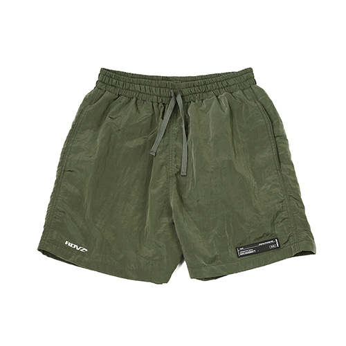 [RENDEZVOUZ] METALLIC SURF SHORT OLIVE