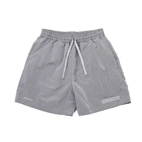[RENDEZVOUZ] METALLIC SURF SHORT LIGHTGREY