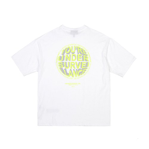 [RENDEZVOUZ] CIRCLE LOGO T-SHIRTS WHITE