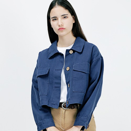 [ARDOROBE] TWO POCKET SHORT JACKET AJK183001-NV