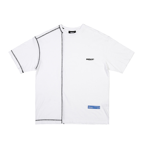 [RENDEZVOUZ] COVERSTITCH T-SHIRTS WHITE