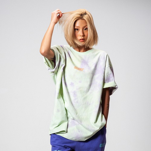 [OBJECT] TIE DYE OVERSIZED T-SHIRT - MINT