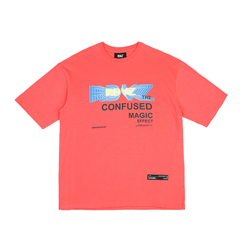 [RENDEZVOUZ] THE CONFUSED T-SHIRTS CORAL