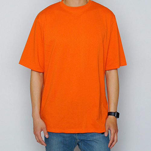 [LOKWARD] BASIC HALF TEE (ORANGE)