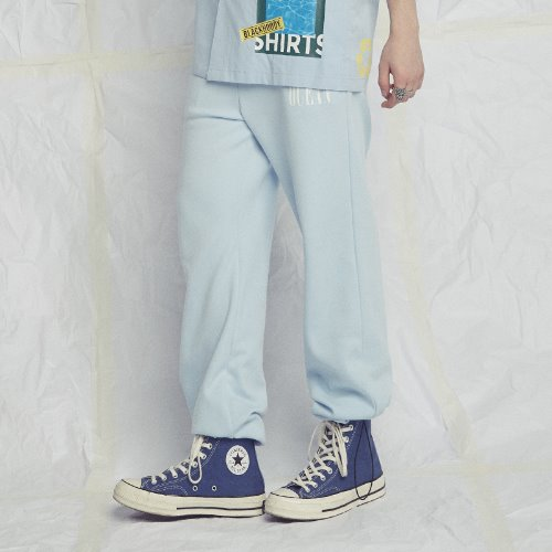 [Black Hoody] BLACK OCEAN SWEATPANTS SKYBLUE