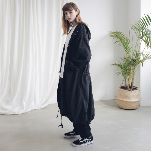 [ARDOROBE] M-51 FISHTAIL LONG COAT ACT191001-BK