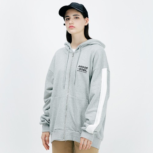 [ARDOROBE] SIGNATURE OVERFIT HOOD ZIP-UP AZP183001-GR