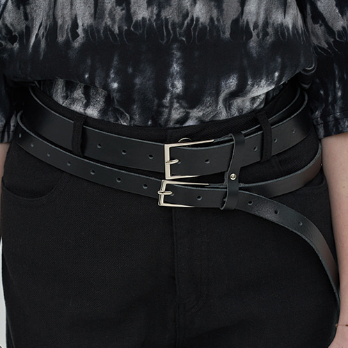 [OY] DOUBLE LEATHER BELT